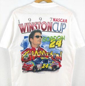Vtg NASCAR Jeff Gordon 1997 Rainbow Racing Tshirt
